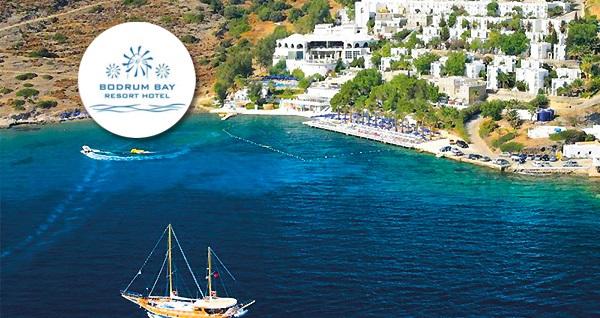 Bayram tatilinde denize sıfır 5 yıldızlı Bodrum Bay Resort Hotel'de her şey dahil 3 gece 4 gün konaklama ve ulaşım seçenekleri 999 TL'den başlayan fiyatlarla! 3-6 Haziran tarihinde geçerlidir.