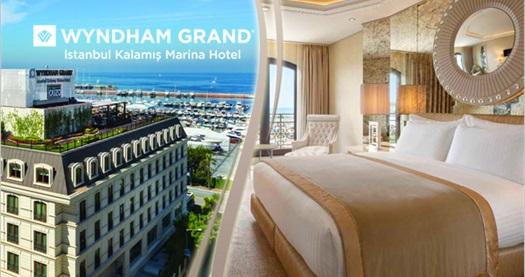 Beş yıldızlı Wyndham Grand İstanbul Kalamış Marina Hotel'de çift kişilik 1 gece konaklama seçenekleri 199 TL'den başlayan fiyatlarla! Fırsatın geçerlilik tarihi için DETAYLAR bölümünü inceleyiniz.