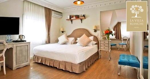 Villa Blanche Hotel'de çift kişilik kahvaltı dahil konaklama 259 TL'den başlayan fiyatlarla! Fırsatın geçerlilik tarihi için DETAYLAR bölümünü inceleyiniz.