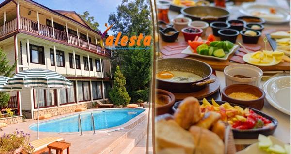 Ağva Alesta Butik Otel'de serpme kahvaltı keyfi kişi başı 39 TL! Fırsatın geçerlilik tarihi için DETAYLAR bölümünü inceleyiniz.