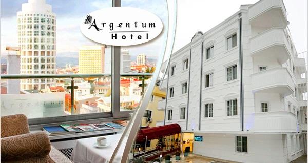 Arjantin Caddesi'nin elit adresi Argentum Hotel'de kahvaltı dahil tek veya çift kişilik 1 gece konaklama 130 TL'den başlayan fiyatlarla! Fırsatın geçerlilik tarihi için DETAYLAR bölümünü inceleyiniz.