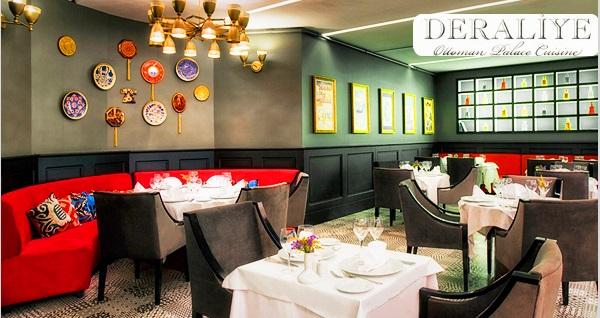 Sultanahmet Deraliye Restaurant'ta enfes Osmanlı lezzetlerinden oluşan menüler 89 TL'den başlayan fiyatlarla! Fırsatın geçerlilik tarihi için, DETAYLAR bölümünü inceleyiniz.