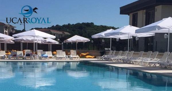 Şile Uçar Royal Hotel'de kahvaltı dahil çift kişilik 1 gece konaklama seçenekleri 199 TL'den başlayan fiyatlarla! Fırsatın geçerlilik tarihi için, DETAYLAR bölümünü inceleyiniz.