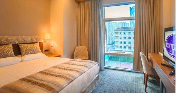 Ataşehir Bomontist Suit Hotel'de kahvaltı dahil çift kişilik 1 gece konaklama 219 TL yerine 169 TL! Fırsatın geçerlilik tarihi için DETAYLAR bölümünü inceleyiniz.