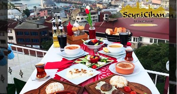 Süleymaniye Seyri Cihan Cafe'de iftar menüleri 50 TL'den başlayan fiyatlarla! Bu fırsat 6 Mayıs - 3 Haziran 2019 tarihleri arasında, iftar saatinde geçerlidir.