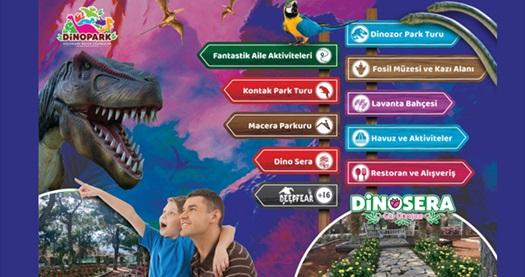 Dinopark Turu+Dinosera (Gülbahçesi) giriş biletleri! Fırsatın geçerlilik tarihi için, DETAYLAR bölümünü inceleyiniz.