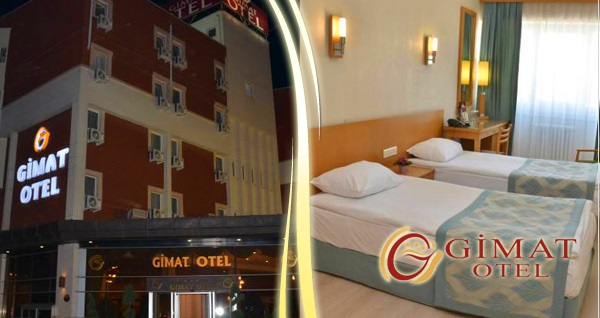 Ankara Gimat Otel'de çift kişilik 1 gece konaklama seçenekleri 179 TL'den başlayan fiyatlarla! Fırsatın geçerlilik tarihi için DETAYLAR bölümünü inceleyiniz.