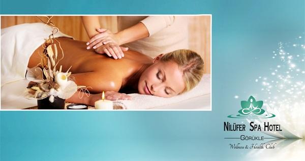 Nilüfer Spa & Otel'de 40 dk. klasik masaj, tesis kullanımı ve içecek ikramı 150 TL yerine 89,90 TL! Fırsatın geçerlilik tarihi için, DETAYLAR bölümünü inceleyiniz.