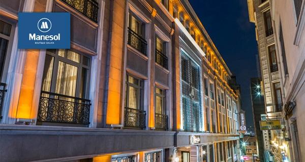 Manesol Boutique Galata Hotel'de çift kişilik 1 gece konaklama 159 TL'den başlayan fiyatlarla! Fırsatın geçerlilik tarihi için DETAYLAR bölümünü inceleyiniz.