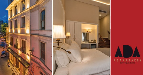 Ada Karaköy Hotel'de kahvaltı dahil çift kişilik 1 gece konaklama 289 TL'den başlayan fiyatlarla! Fırsatın geçerlilik tarihi için, DETAYLAR bölümünü inceleyiniz.