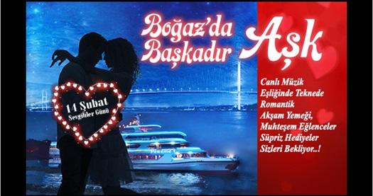 Dentur Avrasya ile Boğaz'ın masmavi suları üzerinde eğlence programı eşliğinde Sevgililer Günü yemeği 79 TL'den başlayan fiyatlarla! 14 Şubat 2017 Sevgililer Günü'nde geçerlidir.