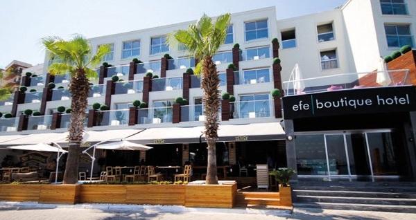 Kuşadası Efe Boutique Hotel'de kahvaltı dahil çift kişilik 1 gece konaklama 219 TL'den başlayan fiyatlarla! Fırsatın geçerlilik tarihi için, DETAYLAR bölümünü inceleyiniz.