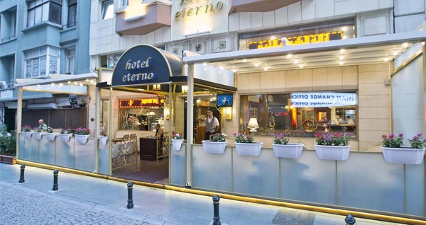 Taksim Talimhane'de bulunan Hotel Eterno'da tek veya çift kişi kahvaltı dahil konaklama 189 TL! Fırsatın geçerlilik tarihi için DETAYLAR bölümünü inceleyiniz.