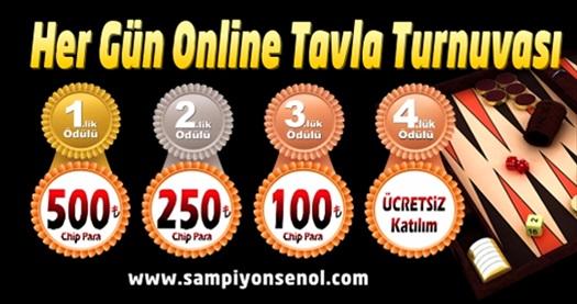Şampiyonluğa zar atmaya ne dersiniz? Online tavla turnuvasına katılım 10 TL'den başlayan fiyatlarla! 30 Nisan 2015 tarihine kadar geçerlidir.