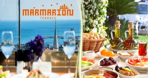Marmarion Teras'ta zengin serpme kahvaltı menüsü 24,90 TL! Fırsatın geçerlilik tarihi için DETAYLAR bölümünü inceleyiniz.