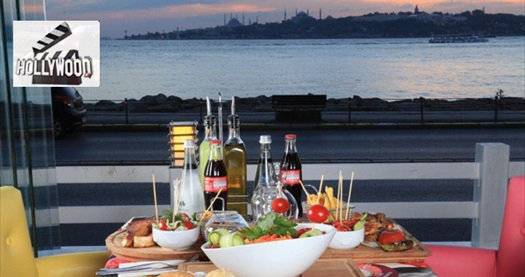 Kızkulesi'ne nazır Salacak Sahil Yolu Hollywoodcity Cafe'de lezzetli iftar menüsü 49,90 TL'den başlayan fiyatlarla! 27 Mayıs - 24 Haziran tarihleri arasında, iftar saatinde geçerlidir.