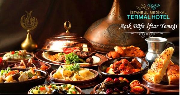 İstanbul Medikal Termal Otel'de zengin açık büfe iftar menüsü 59 TL'den başlayan fiyatlarla! Bu fırsat 6 Mayıs - 3 Haziran 2019 tarihleri arasında, iftar saatinde geçerlidir.