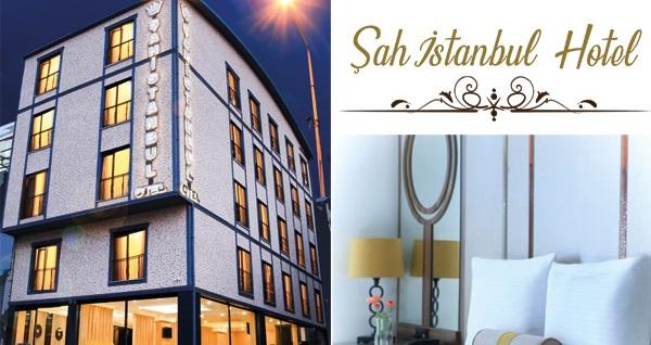 Bursa Şah İstanbul Hotel'de açık büfe kahvaltı dahil tek veya çift kişilik 1 gece konaklama seçenekleri 149 TL'den başlayan fiyatlarla! Fırsatın geçerlilik tarihi için, DETAYLAR bölümünü inceleyiniz.