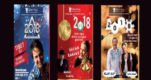 The Green Park Pendik'te Nejat Alp, Suzan Kardeş, Tibet ile Yılbaşı gala yemeği ve konaklama 199 TL'den başlayan fiyatlarla! Bu fırsat 31 Aralık 2017 Yılbaşı gecesi için geçerlidir.