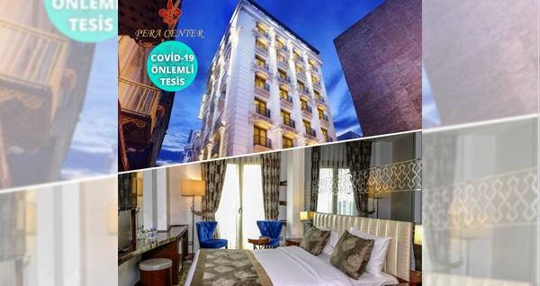 Taksim Pera Center Hotel'de çift kişilik 1 gece kahvaltı dahil konaklama keyfi 185 TL'den başlayan fiyatlarla! Fırsatın geçerlilik tarihi için DETAYLAR bölümünü inceleyiniz.