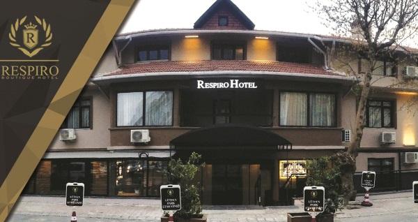 Respiro Boutique Hotel'de çift kişilik 1 gece konaklama seçenekleri SPA kullanımı dahil