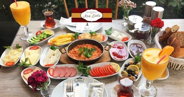 Mecidiyeköy Kuş Sütü Restaurant'ta menemen, sınırsız çay dahil serpme kahvaltı kişi başı 24,90 TL! Fırsatın geçerlilik tarihi için DETAYLAR bölümünü inceleyiniz.