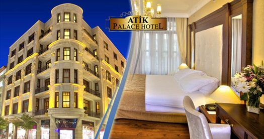 Şişli'nin görkemli hoteli Atik Palace Hotel'de kahvaltı dahil kişi seçenekleri ile 1 gece konaklama keyfi! Fırsatın geçerlilik tarihi için DETAYLAR bölümünü inceleyiniz.
