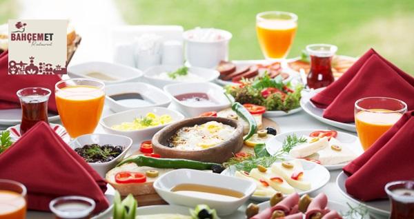 Silivri Bahçem Et Restaurant'ta haftanın 6 günü serpme kahvaltı veya Pazar günü açık büfe kahvaltı menüsü 40 TL! Fırsatın geçerlilik tarihi için DETAYLAR bölümünü inceleyiniz.