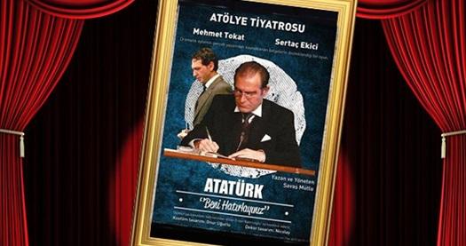 """Büyük lider Mustafa Kemal Atatürk'ün yaşamından kesitler sunan  'ATATÜRK - Beni hatırlayınız...' (ÖZEL GÖSTERİM) oyununa giriş biletleri 40 TL yerine 20 TL! 23 Ocak ve 6 Şubat gösterimlerinde geçerlidir. Tarih seçimi yapmak için """"Hemen Al""""a tıklayınız."""