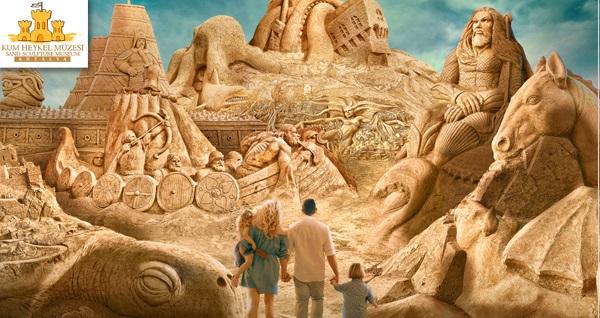 ''Sea Legends'' (Deniz Efsaneleri) temasıyla düzenlenen, dünya harikaları arasında yer alan yapıların örneklerinin sergilendiği Antalya Kum Heykel Müzesi'ne giriş ve kahve 40 TL yerine 24,90 TL! Fırsatın geçerlilik tarihi için DETAYLAR bölümünü inceleyiniz.