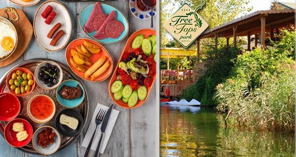 Ağva Tree Tops Park Restaurant'ta nehir kıyısında serpme kahvaltı ve 30 dakikalık kano keyfi 29,90 TL! Fırsatın geçerlilik tarihi için DETAYLAR bölümünü inceleyiniz.