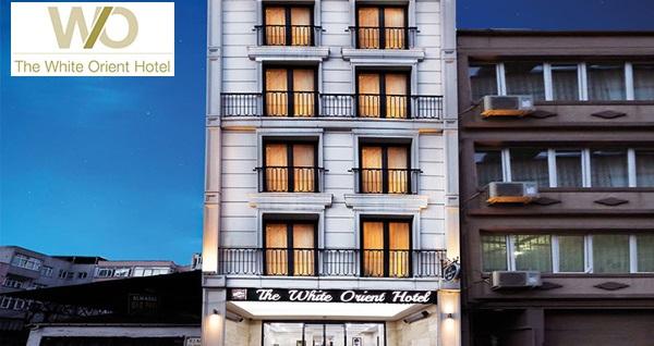 Şişli The White Orient Hotel'de kahvaltı dahil çift kişilik 1 gece konaklama 239 TL! Fırsatın geçerlilik tarihi için, DETAYLAR bölümünü inceleyiniz.