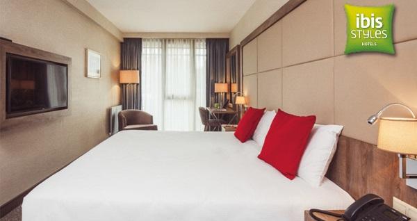 Ibis Styles İstanbul Bomonti Hotel'de çift kişilik 1 gece konaklama