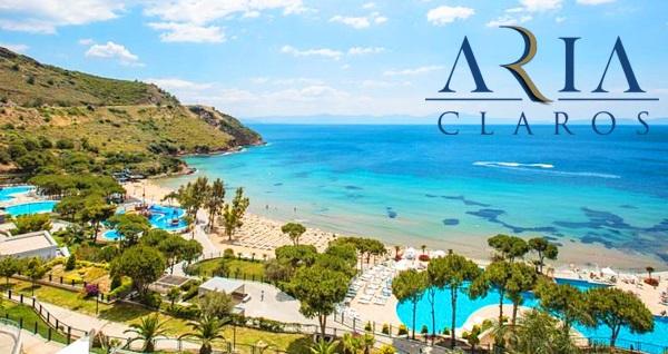 Aria Claros Beach & Spa Resort'te her şey dahil günübirlik tesis kullanımı, aquapark, havuz ve plaj girişi kişi başı 139 TL'den başlayan fiyatlarla! Fırsatın geçerlilik tarihi için, DETAYLAR bölümünü inceleyiniz.
