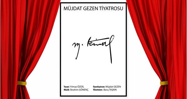 Müjdat Gezen Tiyatrosu'dan ''M.Kemal'' oyunu için biletler 112 TL yerine 75 TL! 18 Şubat 2020 / 20.00 / Ankara Yenimahalle Nazım Hikmet Kültür Merkezi