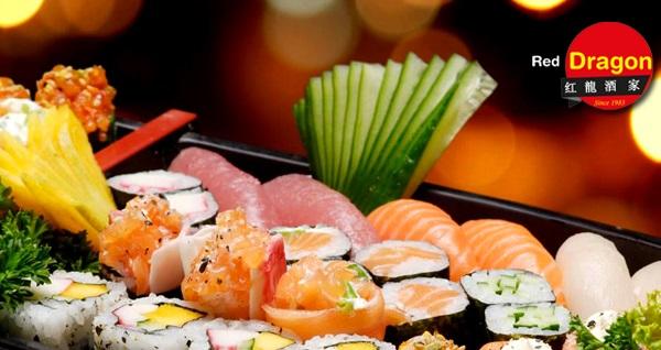 EKSTRA İNDİRİM! Red Dragon Chinese Restaurant'ta 18 parça sushi 75 TL yerine 39,90 TL! Fırsatın geçerlilik tarihi için, DETAYLAR bölümünü inceleyiniz.