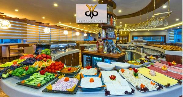 Fatih Bekdaş Hotel'de 100 çeşit açık büfe kahvaltı VEYA serpme kahvaltı 24,90 TL! Fırsatın geçerlilik tarihi için DETAYLAR bölümünü inceleyiniz.