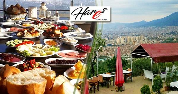 Osmangazi Hares Seyr-i Bursa Cafe'de serpme kahvaltı keyfi kişi başı 35 TL yerine 24,90 TL! Fırsatın geçerlilik tarihi için, DETAYLAR bölümünü inceleyiniz.