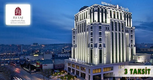Güneşli Retaj Royale İstanbul'da çift kişilik 1 gece konaklama seçenekleri 109 TL'den başlayan fiyatlarla! Fırsatın geçerlilik tarihi için, DETAYLAR bölümünü inceleyiniz.