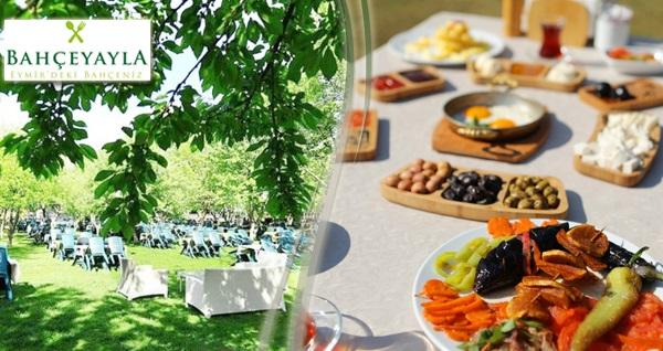 Eymir Gölü mevkinde yer alan Bahçeyayla'da doğal ürünlerden oluşan kahvaltı tabağı ve serpme köy kahvaltısı 29,90 TL'den başlayan fiyatlarla! Fırsatın geçerlilik tarihi için, DETAYLAR bölümünü inceleyiniz.