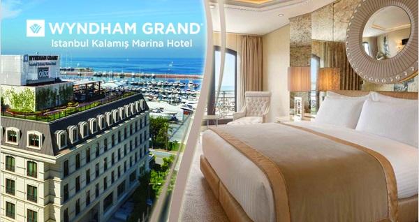 Wyndham Grand İstanbul Kalamış Marina Hotel'de çift kişilik 1 gece konaklama seçenekleri