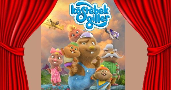"""Çocukların sevimli kahramanı 'Köstebekgiller' çocuk oyunu için biletler 24 TL! Tarih ve konum seçimi yapmak için """"Hemen Al"""" butonuna tıklayınız."""