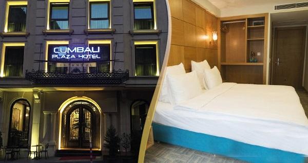 Şişli Cumbalı Plaza Hotel'de çift kişilik kahvaltı dahil 1 gece konaklama 199 TL'den başlayan fiyatlarla! Fırsatın geçerlilik tarihi için DETAYLAR bölümünü inceleyiniz.
