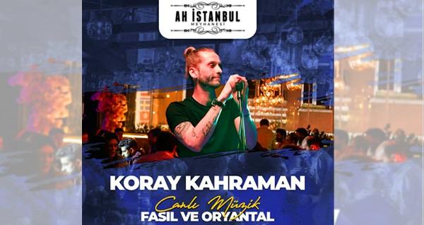 Ah İstanbul Meyhanesi'nde canlı fasıl ve yerli içecek eşliğinde menü kişi başı 149,90 TL den başlayan fiyatlarla! Fırsatın geçerlilik tarihi için DETAYLAR bölümünü inceleyiniz.