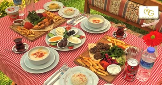 Yeşilin kalbindeki İncek Marry Garden'da iftar menüleri kişi başı 42,50 TL'den başlayan fiyatlarla! 6 Mayıs - 3 Haziran 2019 tarihleri arasında, iftar saatinde geçerlidir.