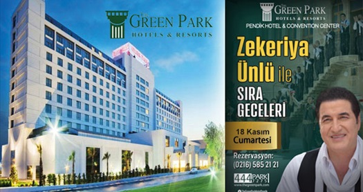 The Green Park Pendik Hotel'de Zekeriya Ünlü ve orkestrası ile sıra gecesi ve konaklama seçenekleri 119 TL'den başlayan fiyatlarla! Fırsatın geçerlilik tarihi için DETAYLAR bölümünü inceleyiniz. Fırsat özel günlerde geçerli değildir.