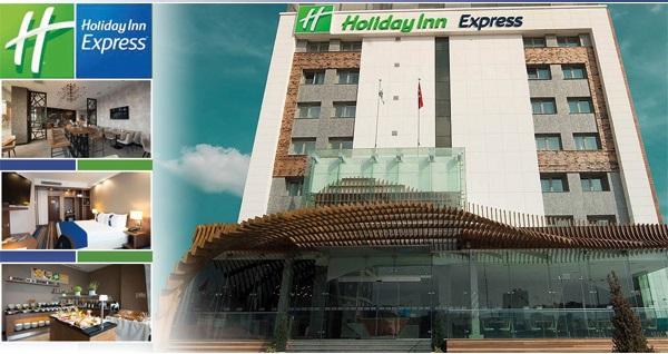 Holiday Inn Express İstanbul Airport'ta tek veya çift kişilik kahvaltı dahil 1 gece konaklama 209 TL'den başlayan fiyatlarla! Fırsatın geçerlilik tarihi için DETAYLAR bölümünü inceleyiniz.