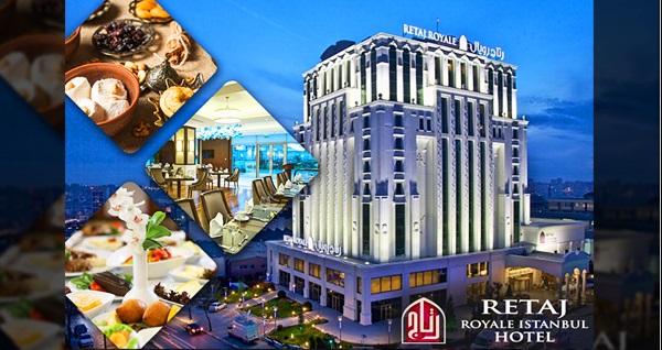 5 yıldızlı Retaj Royale İstanbul Hotel'de semazen eşliğinde muhteşem iftar menüsü kişi başı 79,90 TL! Bu fırsat 6 Mayıs - 3 Haziran 2019 tarihleri arasında, iftar saatinde geçerlidir.