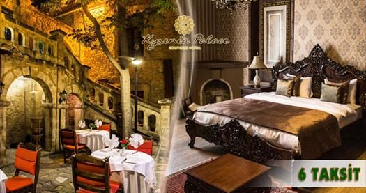 Girne Kyrenia Palace Boutique Hotel'de kahvaltı dahil çift kişilik odada kişi başı 1 gece konaklama ve spa keyfi 149 TL'den başlayan fiyatlarla! Özel günler ve Bayram dönemi DAHİL; 20 Eylül 2015 tarihine kadar, haftanın her günü geçerlidir. Fırsata, çift kişilik odada kişi başı 1 gece konaklama, kahvaltı ve ıslak alan kullanımı dahildir.