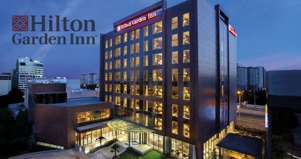Hilton Garden Inn Istanbul Beylikdüzü'nde kahvaltı dahil çift kişilik 1 gece konaklama